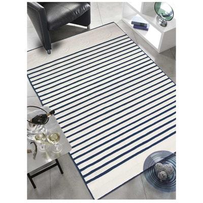 tapis de salon moderne design ancre noir ecru laine tapis de salon moderne design ancre - Tapis Noir Et Blanc