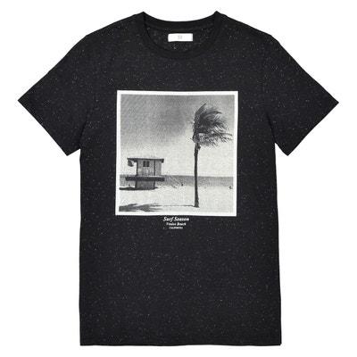 T-shirt col rond imprimé 10-16 ans La Redoute Collections