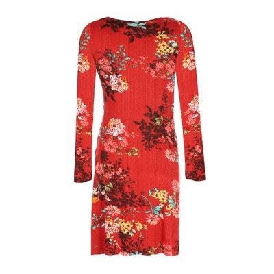 Kleid mit Blütendruck, gerade, 3/4-Länge Kleid mit Blütendruck, gerade, 3/4-Länge RENE DERHY