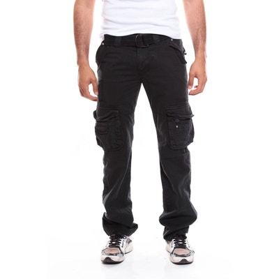 11a3a1cb8b511 Pantalon cargo noir en solde   La Redoute