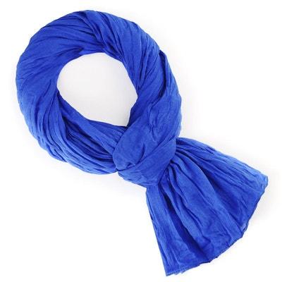 Chèche coton bleu roi uni ALLEE DU FOULARD 5cccaac5a3c