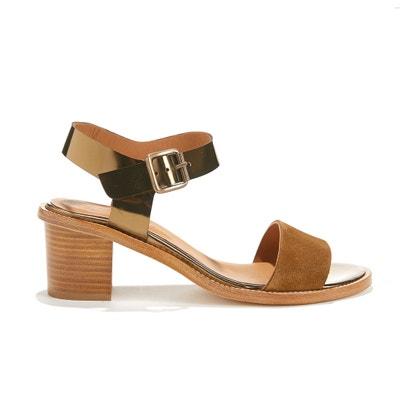 Sandaletten VADIM aus Rindsleder, Materialmix ANTHOLOGY PARIS