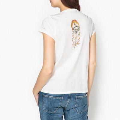 T-Shirt TARA, Federmotiv, V-Ausschnitt T-Shirt TARA, Federmotiv, V-Ausschnitt BERENICE