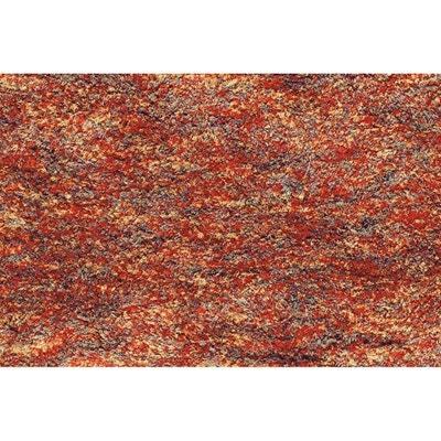 tapis shaggy en polyester design orange chin beige ethno allotapis - Tapis Orange