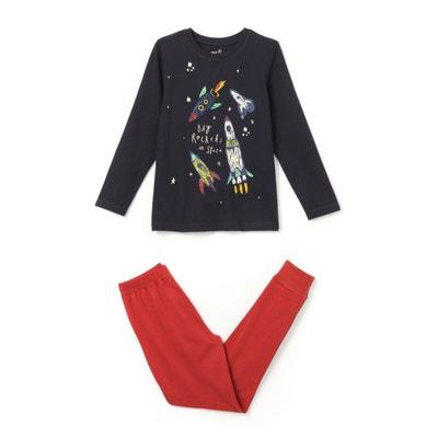 Pijama com estampado fosforescente, 3-12 anos La Redoute Collections