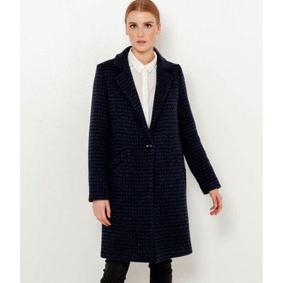20d8be48b15b2 Manteau mi long laine femme en solde   La Redoute