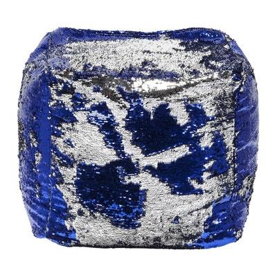 Pouf bleu en solde | La Redoute