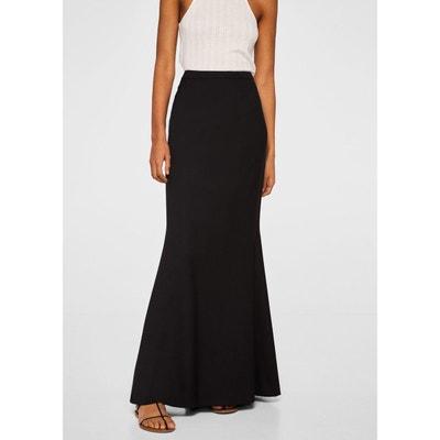 Jupe longue noire femme en solde   La Redoute 3d9dc9106218