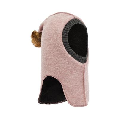 Cagoule pompon en fourrure synthétique laine Cagoule pompon en fourrure synthétique laine NAME IT