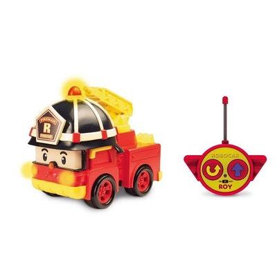 Camion de pompiers radiocommandé Robocar Poli 15 cm : Roy OUAPS