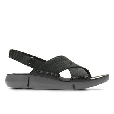 Tri Chloe Nubuck Leather Sandals Tri Chloe Nubuck Leather Sandals CLARKS