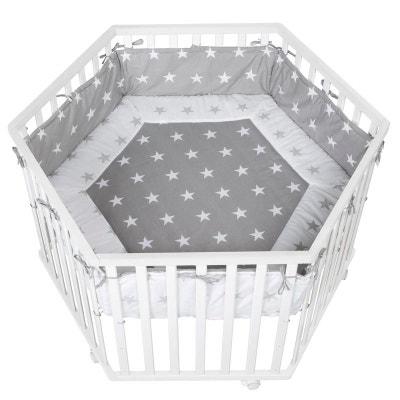 Parc hexagonal collection 'Little stars' Roba 120x72cm - Blanc Parc hexagonal collection 'Little stars' Roba 120x72cm - Blanc ROBA