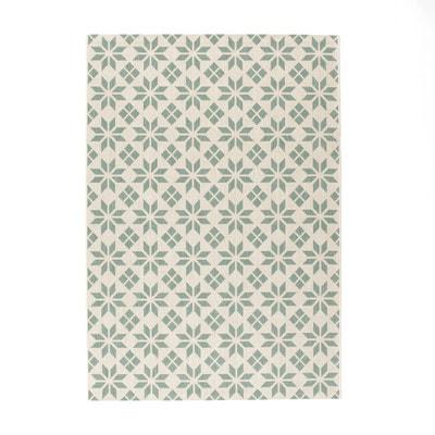 tapis tiss plat carreaux de ciment iswik tapis tiss plat carreaux de ciment iswik - Tapis De Salon Bleu