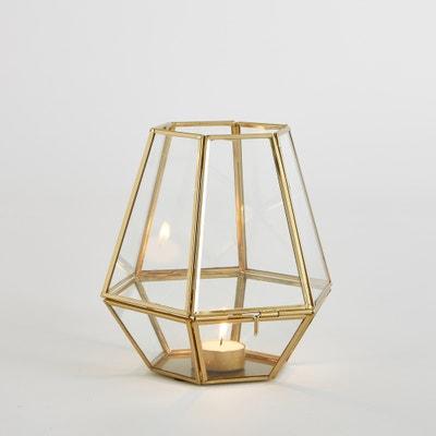 Portacandela in vetro e metallo, Miludi Portacandela in vetro e metallo, Miludi La Redoute Interieurs