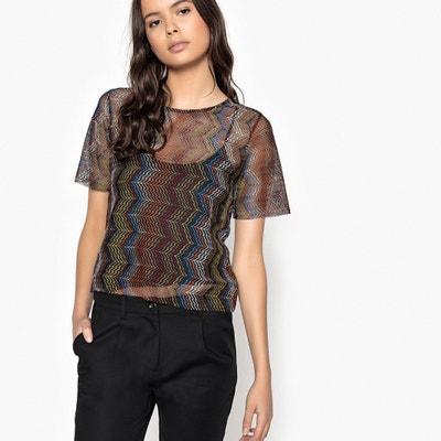 T-shirt fin, col rond, manches courtes, imprimé T-shirt fin, col rond, manches courtes, imprimé La Redoute Collections
