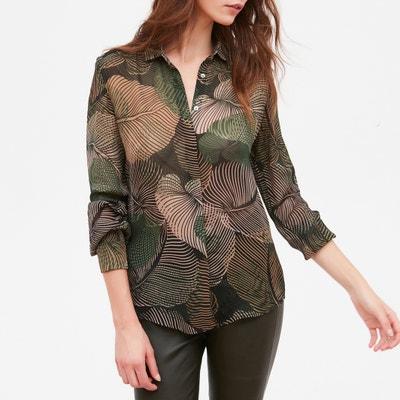 Hemd met bladerenprint, lange mouwen CLYDE Hemd met bladerenprint, lange mouwen CLYDE HARTFORD