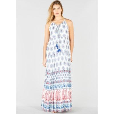 Lange jurk zonder mouwen met kasjmierprint Lange jurk zonder mouwen met kasjmierprint RENE DERHY