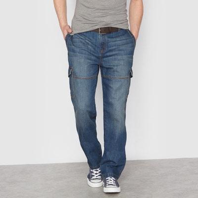Jeans com vários bolsos, cós elástico atrás Jeans com vários bolsos, cós elástico atrás CASTALUNA FOR MEN