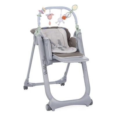 Chaise haute Polly Magic Relax dove grey CHICCO