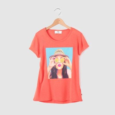 """T-shirt impression """"femme au chapeau"""" 8-16 ans T-shirt impression """"femme au chapeau"""" 8-16 ans LE TEMPS DES CERISES"""