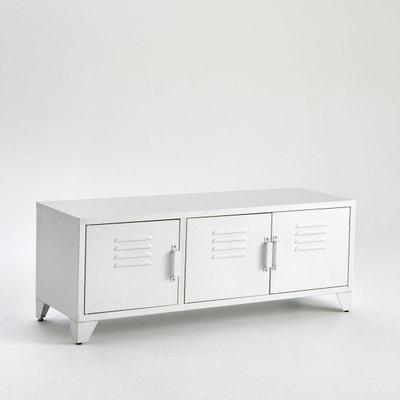 Meuble TV style indus, 3 portes, blanc mat, Hiba Meuble TV style indus, 3 portes, blanc mat, Hiba La Redoute Interieurs