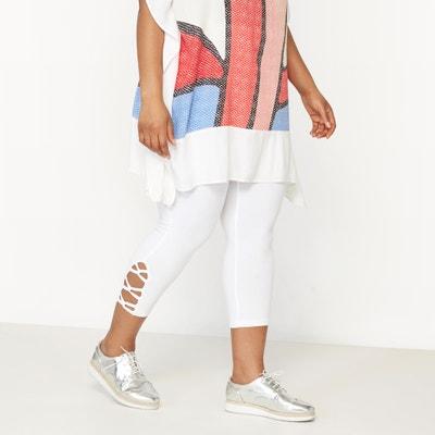 Leggings with Criss-Cross Tie Hem Detail Leggings with Criss-Cross Tie Hem Detail CASTALUNA
