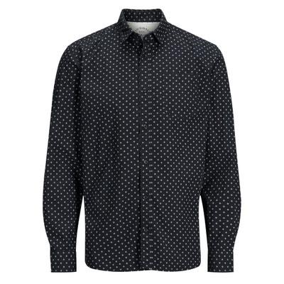 Prosta koszula wzorzysta, z długim rękawem Prosta koszula wzorzysta, z długim rękawem JACK & JONES