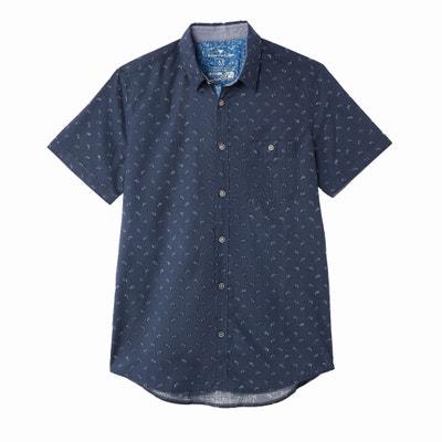 Prosta wzorzysta koszula z krótkim rękawem Prosta wzorzysta koszula z krótkim rękawem TOM TAILOR