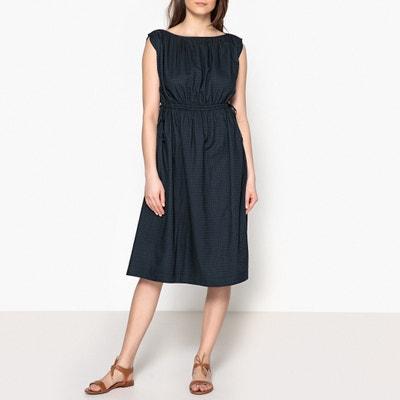 Darling Plain Short-Sleeved Gathered Dress SOEUR