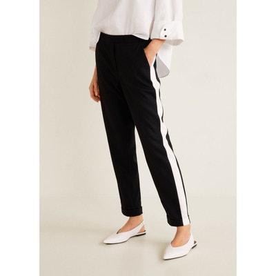 Pantalon empiècements contrastants Pantalon empiècements contrastants MANGO ad31ca0db896