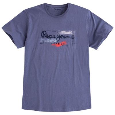 T-shirt con scollo rotondo tinta unita, maniche corte PEPE JEANS