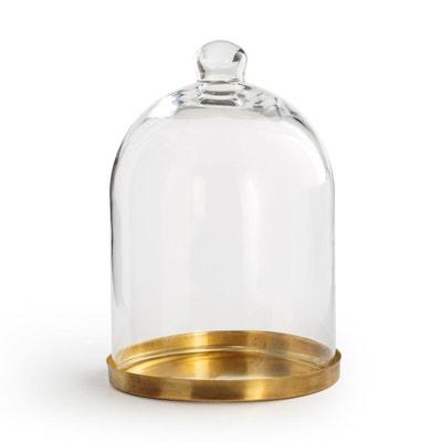 Cloche verre et laiton H23 cm TANEMIRTE Cloche verre et laiton H23 cm TANEMIRTE LA REDOUTE INTERIEURS