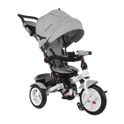 Tricycle évolutif Bébé / Enfant Neo  Roues Gonflables Gris LORELLI