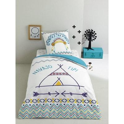 parure housse de couette blanche la redoute. Black Bedroom Furniture Sets. Home Design Ideas