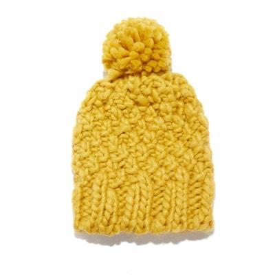 Gorro con pompón de punto tricot Gorro con pompón de punto tricot La Redoute Collections