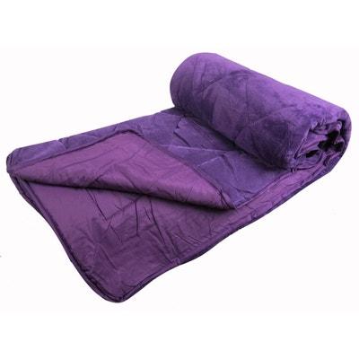 couvre lit veloura boutis piqu sherpa 90grs home maison - Couvre Lit Violet