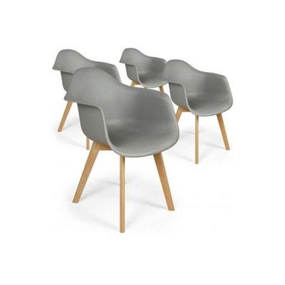 lot de 4 chaises scandinaves avec accoudoirs grises fjord lot de 4 chaises scandinaves avec accoudoirs - Chaise Accoudoir Scandinave
