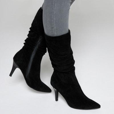 Boots cuir plissées Boots cuir plissées MADEMOISELLE R