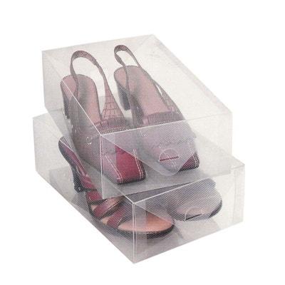 2 Boîtes de rangement pour chaussures - Transparent SUD CARGO
