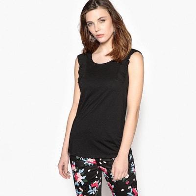 T-shirt col rond, manches courtes fantaisie ANNE WEYBURN