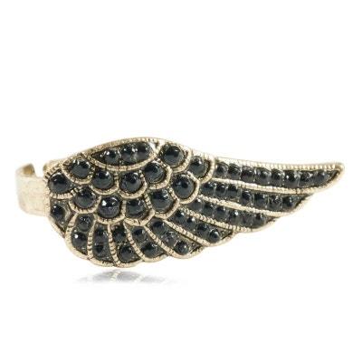 Bague vintage réglable à l'aile d'ange noire Bague vintage réglable à l'aile d'ange noire EXOTIC EXPRESS