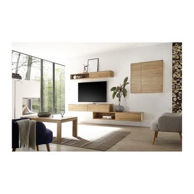 etagre suspendue filigrame en bois massif finition chne naturel hellin depuis 1862 - Meuble Tv Design