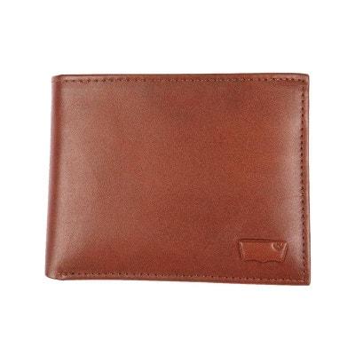 Portefeuille italien  Inlay en cuir lisse   à porte-cartes amovible LEVI'S