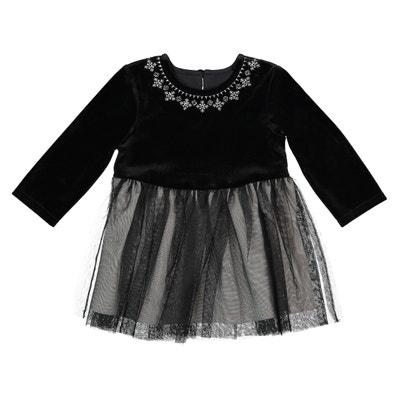 Kleid aus Samt und Tüll, 1 Monat - 3 Jahre Kleid aus Samt und Tüll, 1 Monat - 3 Jahre La Redoute Collections