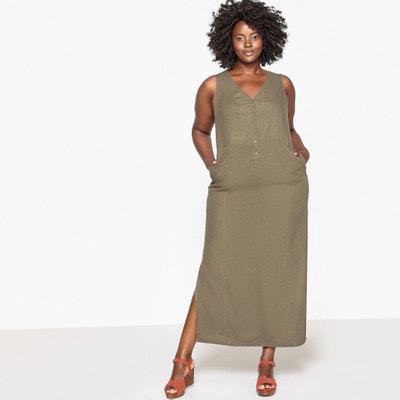 Vestido largo de lino CASTALUNA