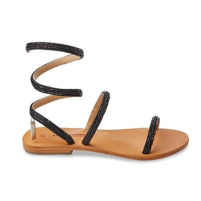 Olga Flat Gladiator Sandals Olga Flat Gladiator Sandals LES TROPEZIENNES PAR M.BELARBI