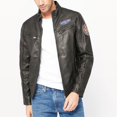 Faux Leather Biker Jacket PETROL INDUSTRIES