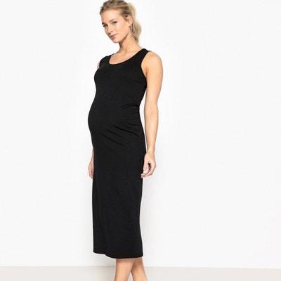 Vestido de embarazo largo de punto La Redoute Collections