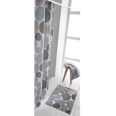Rideau de douche imprimé galets La Redoute Interieurs