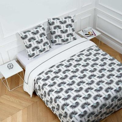 parure de lit coton percale lily blanc et noir parure de lit coton percale lily blanc - Parure De Lit 160x200